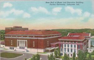 Indiana Lafayette New Hall Of Music & Executive Building Purdue University Cu...