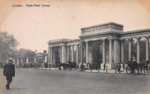 Hyde Park Corner, London, England, Early Postcard, Unused