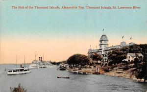 Canada St. Lawrence River, Alexandria Bay, Thousand Islands, Hub, Ships
