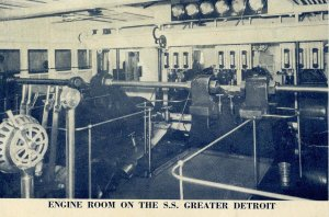 Detroit & Cleveland (D&C) Line - SS Greater Detroit, Engine Room