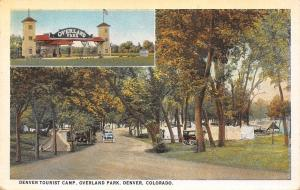 Denver Colorado~Overland Park Arch Entrance~Tents in Tourist Camp 1921