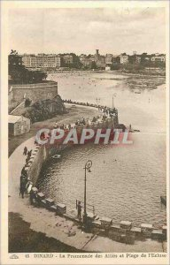 Old Postcard Dinard La Promenade des Allies and Beach of the Lock
