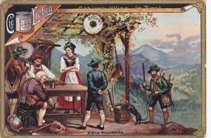 Liebig Vintage Trade Card S490 Mountain People I  1896 No 1 Tyrol