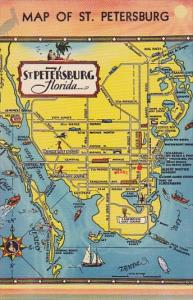 Florida Saint Petersburg Map Of Saint Petersburg
