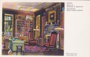 New York Hyde Park Library At Home Of Franklin D Roosevelt Painted By Ruth Pe...
