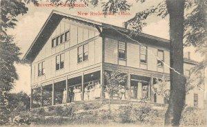F54/ New Richmond Ohio Postcard University Settlement People Porch