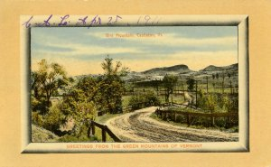 VT - Castleton. Glimpse of Bird Mountain