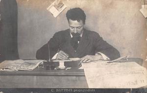 C.Battisti propagandista, writing, patriot, politician 1916