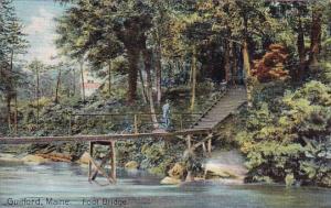 Maine Guilford Foot Bridge 1910