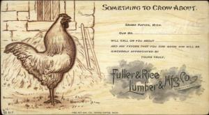 Publ in Grand Rapids MI Fuller & Rice Lumber & Mfg Co c1905 Postcard