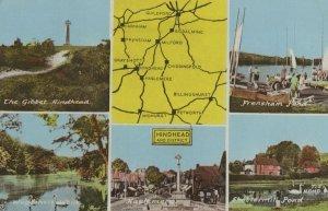 Hindhead 1970s Map Surrey Postcard