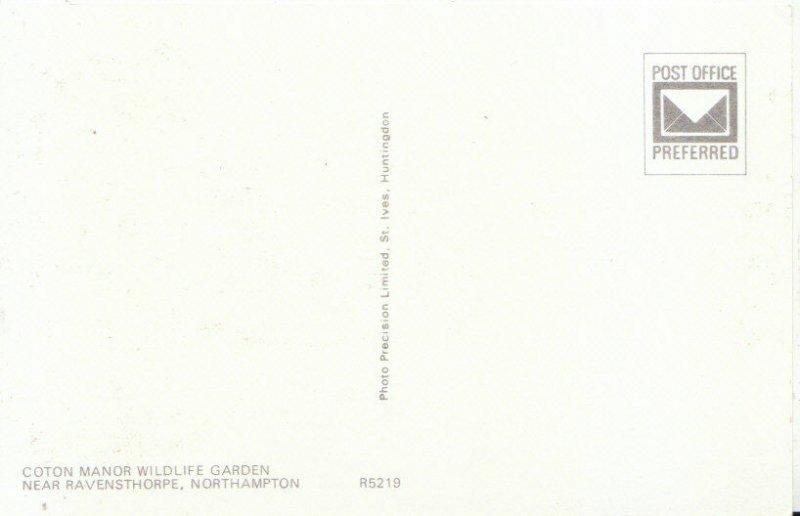 Northamptonshire Postcard - Coton Manor Wildlife Garden, Ravensthorpe  Ref 4776A