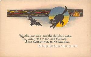 Halloween Postcard Old Vintage Post Card Series 1135 Halloween Designs, Unused
