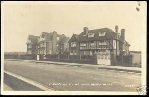 sussex BEXHILL-on-SEA, St. John's Lodge (ca. 1930) RPPC