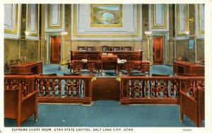 UT - Salt Lake City. Utah State Capitol, Supreme Court Room    (corner wear)