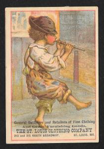 VICTORIAN TRADE CARD St Louis Clothing Co Gent's Clothiers