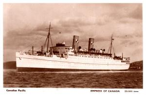 S.S. Empress of Canada, Canadian Pacific Lines , RPC