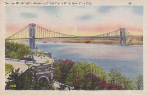 George Washington Bridge and Fort Tryon Park - New York City pm 1947