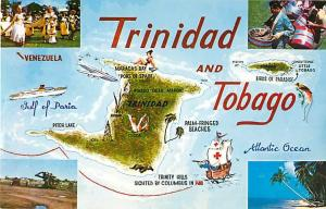 Trinidad and Tobago Map Card Chrome