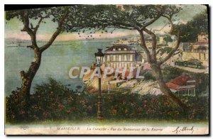 Postcard Old Marseille Corniche view of the Reserve Restaurant