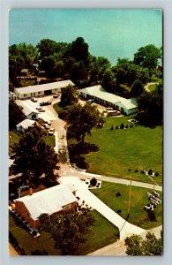 Brighton MI- Michigan, Smith Brigg's Lake Motel, Advertising, Chrome Postcard