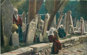 Turkey turkish cemetery at Scutari Constantinople Istanbul ethnic