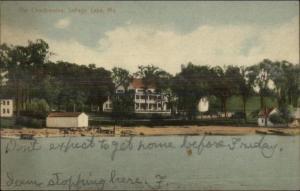 Sebago Lake ME The Chadbourne c1910 Postcard