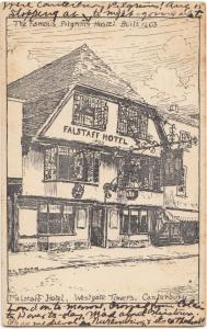 The Famous Pilgrims Hostel, Falstaff Hotel, Westgate Towers, Canterbury