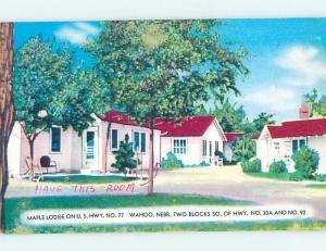 Pre-1980 CABIN SCENE Wahoo Nebraska NE c4055