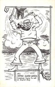 Armed Guard Series, Ayers USN 1918 Military Comic Unused