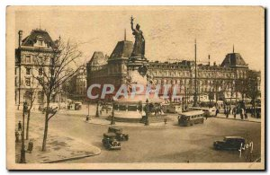 Old Postcard Paris Strolling Place de la Republique