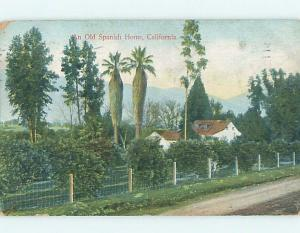 Divided-Back SPANISH HOME Postmarked Los Angeles California CA HM6685