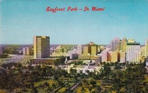 Florida Miami Aerial View Bayfront Park 1966
