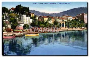 Old Postcard La Cote D & # 39Azur Bandol Un Coin Du Port