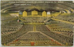 Interior Auditorium Ocean Grove NJ 1914
