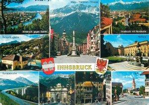 Austria Postcard Innsbruck crests heraldic items different aspects