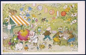 'Wonderland Garden Party' Fantasy Characters Unused c1930s