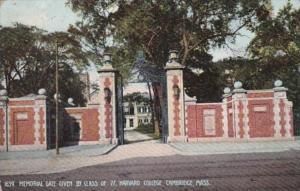 Massachusetts Cambridge Memorial Gate Given By Class Of 77 Harvard College 1908