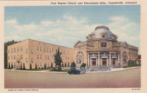 FAYETTEVILLE, Arkansas, 1930-40s; First Baptist Church & Educational Building