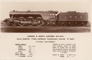 LNER Flying Scotsman Heating Surface Kingsway Old RPC Train Postcard