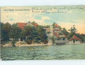 Divided-Back BUILDING SCENE Thousand Islands - Deer Island New York NY H7062
