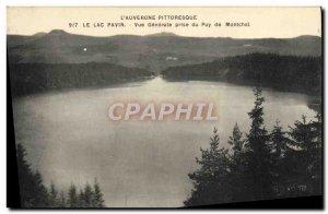 Old Postcard Lake Pavin Vue Generale Jack Du Puy de Montchal