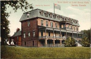 Wees Hotel Lake Huron Park Sarnia Ontario ON Unused 'Sample' Postcard E66