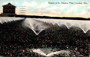 Ohio Columbus Sprayers At Filtration Plant 1911 Curteich