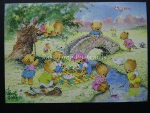 Teddy Bears TEDDIES SUMMER DAYS Jean Gilder c1980's by The Medici Society