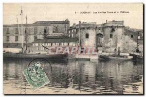 Old Postcard Cognac and Chateau Vieilles Tours