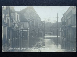 Kent DARTFORD High Street FLOODS of Jan 4th 1925 RP Postcard