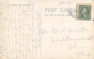 Fredonia New York~Forest Hill Cemetery~Entrance Gate~Chapel~1910 B&W Postcard