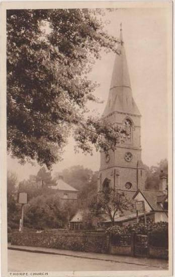 Thorpe Church, Northamptonshire, England 1900-10s