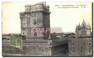 Old Postcard Vincennes The dungeon and chapel of the fort